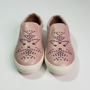 NWOT Frye Kids Lena Studded slip-on sneaker SZ 1